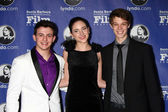 Aviad Bernstein, Haley Ramm, Colin Ford — Stock Photo
