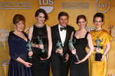 Penelope Wilton, Michelle Dockery, Allen Leech, Amy Nutall and Sophie McSheara — Stock Photo