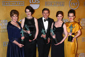 Penelope Wilton, Michelle Dockery, Allen Leech, Amy Nutall and Sophie McSheara — Stock Photo