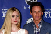 Elle Fanning, Eddie Redmayne — Stock Photo