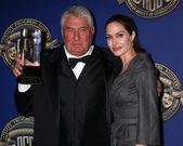 Dean Semler, Lifetime Achievement Award presented by Angelina Jolie — Stock Photo