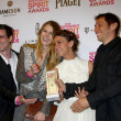 Actors James Ransone, Dree Hemingway, Stella Maeve, director Sean Baker — Стоковая фотография