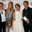 Actors James Ransone, Dree Hemingway, Stella Maeve, director Sean Baker — Stok fotoğraf