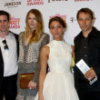 Actors James Ransone, Dree Hemingway, Stella Maeve, director Sean Baker — Stock Photo