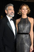 George Clooney, Stacy Keibler — Стоковое фото