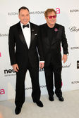 David Furnish, Elton John — Foto Stock