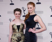 Maisie Williams, Sophie Turner — Stock Photo