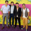 Big Time Rush - Logan Henderson, Kendall Schmidt, James Maslow, Carlos Pena Jr — Stock Photo