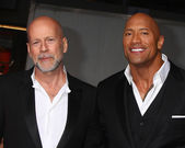 Bruce Willis, Dwayne Johnson — Stock Photo