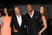 Emma Heming, Bruce Willis, Dwayne Johnson, Lauren Hashian — Stock Photo