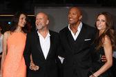 Emma Heming, Bruce Willis, Dwayne Johnson, Lauren Hashian — Stock Photo