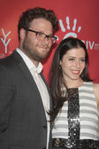 Seth Rogen, Lauren Miller — Stock Photo