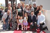 Backstreet Boys and families — Stock Photo
