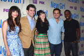 Hannah Simone, Max Greenfield, Zooey Deschanel, Jake Johnson, Lamorne Morris — Stock Photo