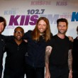 (L-R) Matt Flynn, PJ Morton, James Valentine, Adam Levine and Mickey Madden  — Stock Photo
