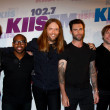 (L-R) Matt Flynn, PJ Morton, James Valentine, Adam Levine and Mickey Madden - Stock Photo