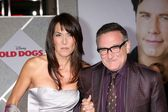 Susan Schneider & Robin Williams — Stockfoto