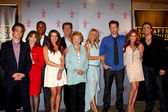 Greg Rikaart, Kate Linder, Redaric Williams, Melissa Claire Egan, Peter Bergman, co-creator Lee Phillips Bell, Pat Harvey, Sharon Case — Stock Photo