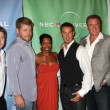 Ben McKenzie , Michael Cudlitz, Regina King, Kevin Alejandro, Arija Bareikis, and Michael McGrady — Stock Photo