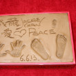 Jackie Chan's Handprints and Footprints, and nose print — Stock Photo