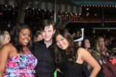 Amber Riley, Chris Colfer, Jenna Ushkowitz — Stock Photo