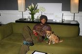 Kiko Ellsworth & his dog — Stock Photo