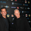 Malek Akkad & Malcolm McDowell — Stock Photo