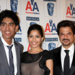 Dev Patel, Freida Pinto, & Anil Kapoor — Stock Photo