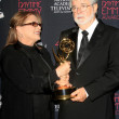 Carrie Fisher, George Lucas  — Foto Stock