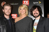 Jon Foster, Jenna Elfman, & Nicolas Wright — Stock Photo
