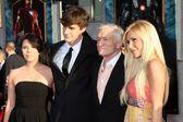 Hugh Hefner & Family — Foto Stock