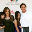 Khloe Kardashian,  step-dad Bruce Jenner, Daughters — Stock Photo