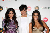 Kim Kardashian, Kris Jenner, & Kourtney Kardashian — Stock Photo
