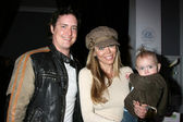 Jeremy London, Wife Melissa Cunningham, with thier baby — Stock Photo