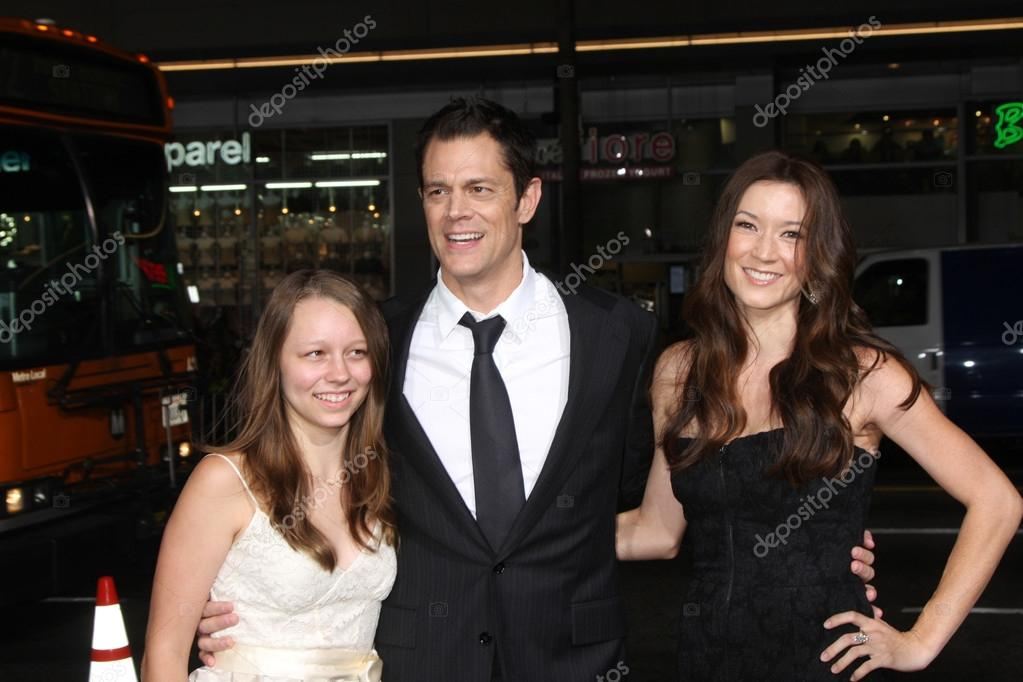 Johnny Knoxville with daughter Madis, wife Naomi Nelson ...