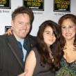Dan Finnerty, Kathy Najimy & their daughter Samia — Stock Photo
