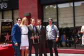 RJ Mitte, Anna Gunn, Bryan Cranston, Aaron Paul, Producer — Stock Photo