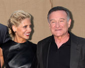 Sarah Michelle Gellar, Robin WIlliams — Stock Photo