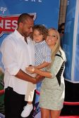 Hank Baskett, Henry Randall Baskett IV, Kendra Wilkinson — Stock Photo