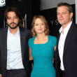 Diego Luna, Jodie Foster, Matt Damon — Stock Photo #29549349