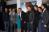 Producer Simon Kinberg, actors William Fichtner, Faran Tahir, Jodie Foster, Matt Damon, director Neill Blomkamp — Stock Photo