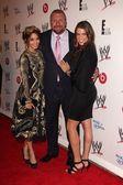 Vanessa Hudgens, Paul Levesque, Stephanie McMahon — Stock Photo