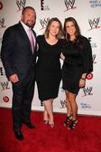 Paul Levesque, Suzanne Kolb, Stephanie McMahon — Stock Photo