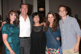 Kate Linder, Peter Bergman, Jill Farren Phelps, Melissa Claire Egan, Greg Rikaart — Stock Photo