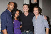 Lamon Archey, Mishael Morgan, Daniel Goddard, Greg Rikaart — Stock Photo