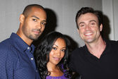 Lamon Archey, Mishael Morgan, Daniel Goddard — Stock Photo