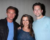 Steve Burton, Melissa Claire Egan, Michael Muhney — Stock fotografie