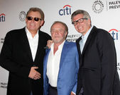 James Caan, with Robb Cullen, and Mark Cullen — Stock Photo