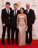 Julia Louis-Dreyfus, Brad Hall, Sons — Stock Photo