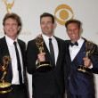 John De Mol, Carson Daly, Mark Burnett — Stockfoto